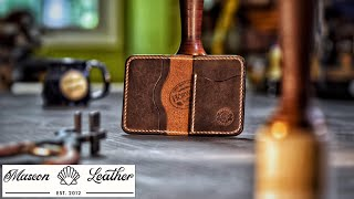 Making A Leather Wallet - The Santiago (Start To Finish)