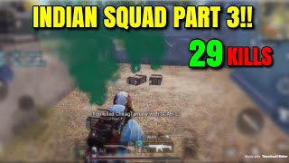 INDIAN SQUAD PART 3 - PUBG Mobile - Landing In Pochinki With The Squad