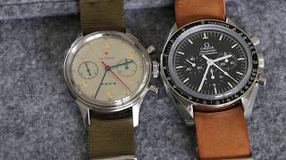 MISTER B - The epic battle between the Seagull 1963 Chrono and the Omega Speedmaster Prof.