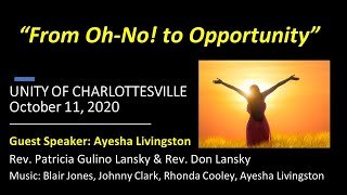 From Oh-no! to opportunity Guest Speaker Ayesha Livingston