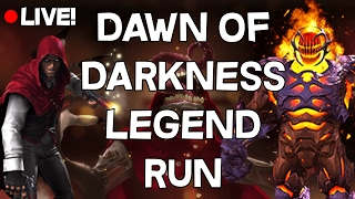 Dawn Of Darkness Legends Run Live - Heroic + Master 100% - Marvel Contest Of Champions