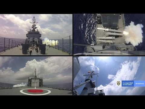 La Armada colombiana dispara su tercer misil C-Star