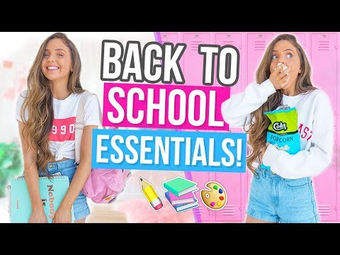 SCHOOL ESSENTIALS! DIY Snack Ideas, Back To School Makeup + Outfit Ideas 2017!