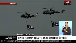 #INAUGURATION19 I President elect Cyril Ramaphosa arrives