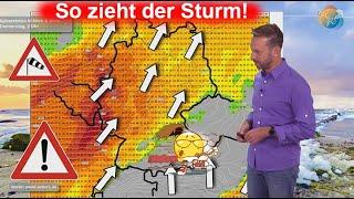 So zieht der Sturm! 25° mit Föhn am Mittwoch! Aktuelle Wind-, Regen- & Wettervorhersage 18.-25.10.