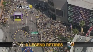 Fans Gather At Staples Center For Kobe Bryant's Final NBA Game