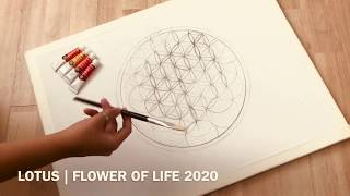 I Art It: Acrylic Paint - Lotus - Flower Of Life 2020