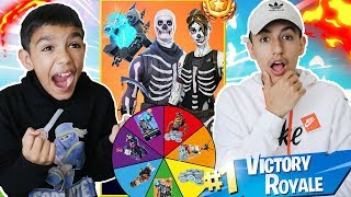 1 Kill = 2 Free Spins For Rare Fortnite Skins And V-Bucks For My 10 Year Old Little Brother!