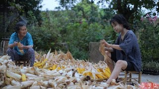 金黄的季节,载满了收获的喜悦和玉米的香甜Golden season, full of preasure of harvest and sweet corn | Liziqi Channel
