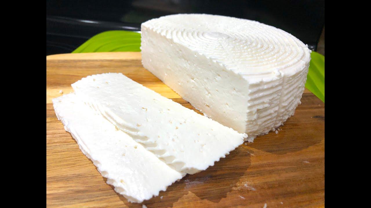 Осетинский сыр из магазинного молока, Нежный, Маслянистый, не крошится.