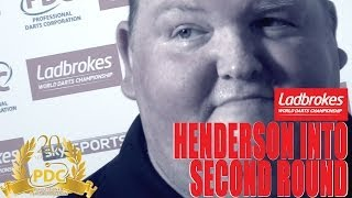 John Henderson after his first round win at the Ladbrokes World Darts Championship