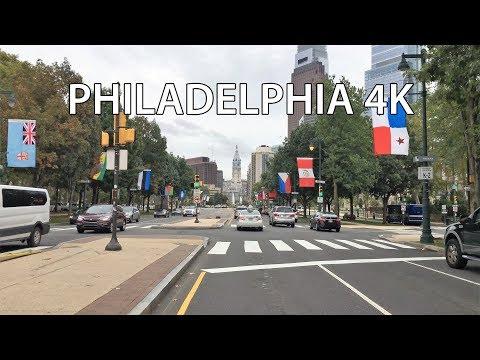 Drive 4K - Paris Street in Philadelphia - USA
