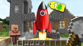 Minecraft NOOB vs PRO : NOOB BOUGHT THIS ROCKET SHIP FOR 1$! Challenge IN MINECRAFT!