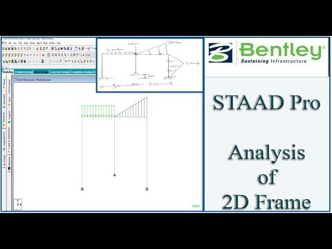 STAAD Pro Tutorial For Beginners [Episode 3]: Analysis of a 2D ...