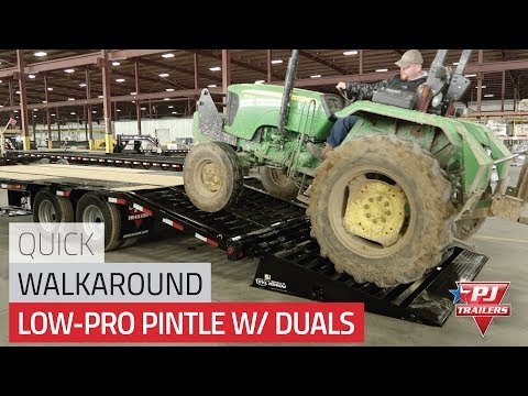 2021 PJ Trailers Low-Pro Pintle with Duals (PL) 30 ft. in Acampo, California - Video 1