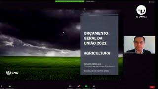 Agricultura - Proposta de LOA de 2021 para a agricultura -