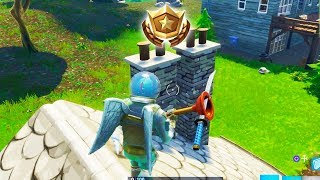 """""""Follow the treasure map found in Moisty Mire"""" Location Fortnite Week 9 Challenges!"""