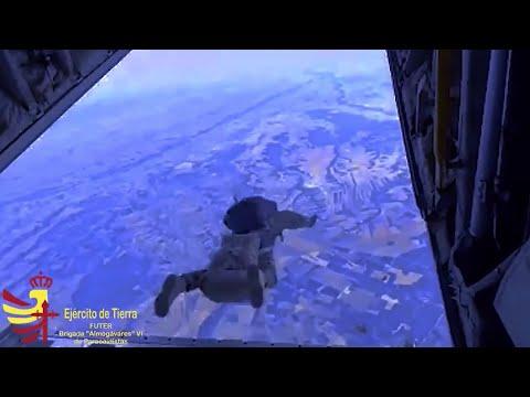 Saltos paracaidistas realizados durante el ejercicio Lone Paratrooper 2020. Vídeo:Ejército de Tierra