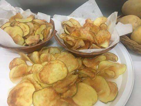 Patatine Chips Fatte in Casa, Fritte e al Forno
