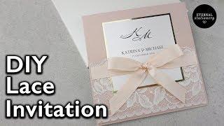 Elegant Lace Invitation | DIY Wedding Invitations - Eternal Stationery