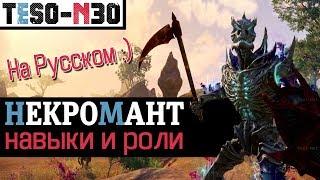 ВСЕ НАВЫКИ НЕКРОМАНТА наглядно и на Русском. TESO(2019)