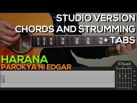 Parokya Ni Edgar - Harana Guitar Tutorial [CHORDS AND STRUMMING + TABS]