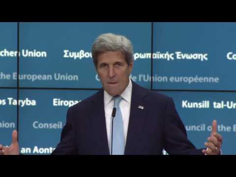 Δηλώσεις του Αμερικανού ΥΠΕΞ Τζον Κέρι από τις Βρυξέλλες