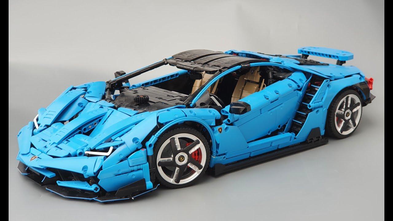 Lego Technic MOC Lamborghini Centenario 1:8 hypercar with building instructions