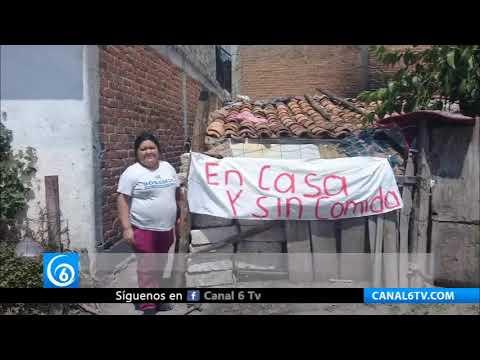 Habitantes de Michoacán afectados por pandemia exigen apoyo al Gobierno Federal
