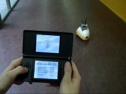 Robot Mod Uses Nintendo DS Touchscreen, Microphone for Controls