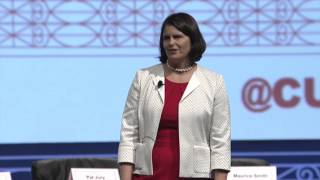 "Gigi Hyland ""Hello, The Foundation loves you"" at the 2015 GAC"