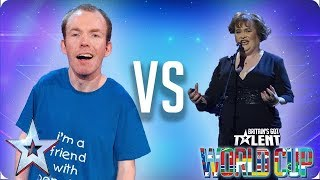 KNOCKOUT MATCH: Lost Voice Guy vs Susan Boyle | Britain's Got Talent World Cup 2018 - Video Youtube