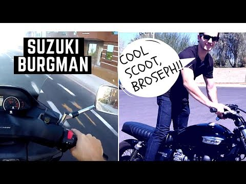 You Bought a SCOOTER!?!? 2008 Suzuki Burgman 400 Review and Test Ride