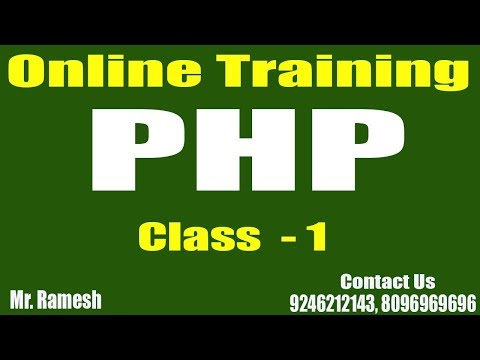 PHP Online Tutorials    PHP Class - 1    by  Ramesh
