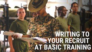 Writing Your Recruit At Basic Training