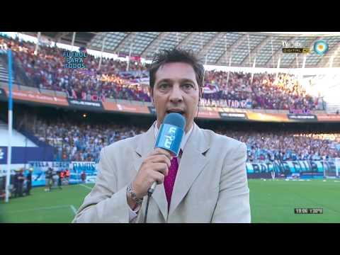 """Recibimiento Racing / Fecha 1 / Clausura 12 / HD"" Barra: La Guardia Imperial • Club: Racing Club • País: Argentina"