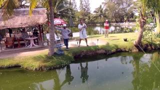 HUA HIN FISHING LODGE – an aerial view of the Lodge – plus a running battle with a Giant Siamese Carp