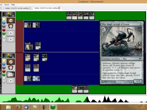 Magic The Gathering GamePlay Cockatrice: Modern Infect GB Vs Affinity Mp3