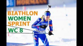 BIATHLON WOMEN SPRINT 15.03.2018 World Cup 8 Holmenkollen (Norway)