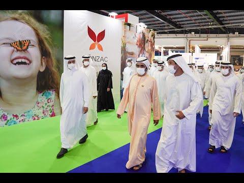 His Highness Sheikh Mohammed bin Rashid Al Maktoum - Mohammed bin Rashid visits Arab Health Exhibition 2021
