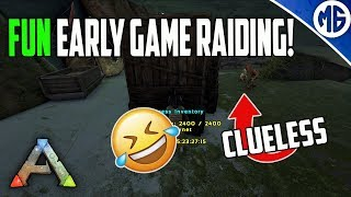 FUN EARLY GAME RAIDING!! Small Tribe Servers - Extinction - Maybe Solo, Maybe Duo?