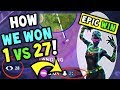 How We Won 1 VS 27 On Fortnite 50 VS 50! The Most EPIC WIN / CLUTCH in Fortnite Battle Royale!