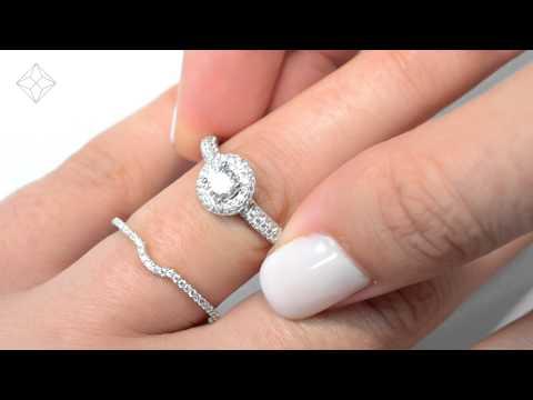 DN3238 - 1.5ct Pave Set 2 Ring Diamond Bridal Set