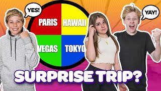 SURPRISING My CRUSH with a DREAM VACATION **FUNNY Reactions** 🎲 ❤️| Piper Rockelle