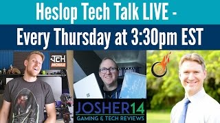 Heslop Tech Talk LIVE! 5/4/17 BlackBerry Comeback? Speaker Giveaway, Surface Laptop, & More!