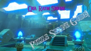 Breath Of The Wild Guides - Qua Raym Shrine  A Balanced Approach  Puzzle Shrine Guide