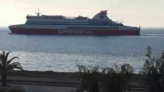 preview picture of video 'SUPERFAST XI - Arrival at Patras South Port'