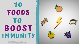10 FOODS TO BOOST YOUR IMMUNITY - HOW TO BOOST IMMUNITY NATURAL - Download this Video in MP3, M4A, WEBM, MP4, 3GP