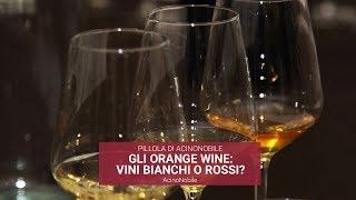 Cosa sono gli orange wine?