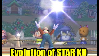 Evolution of Star KO and Voice Comparison in Super Smash Bros Series (The Original 12 Characters)